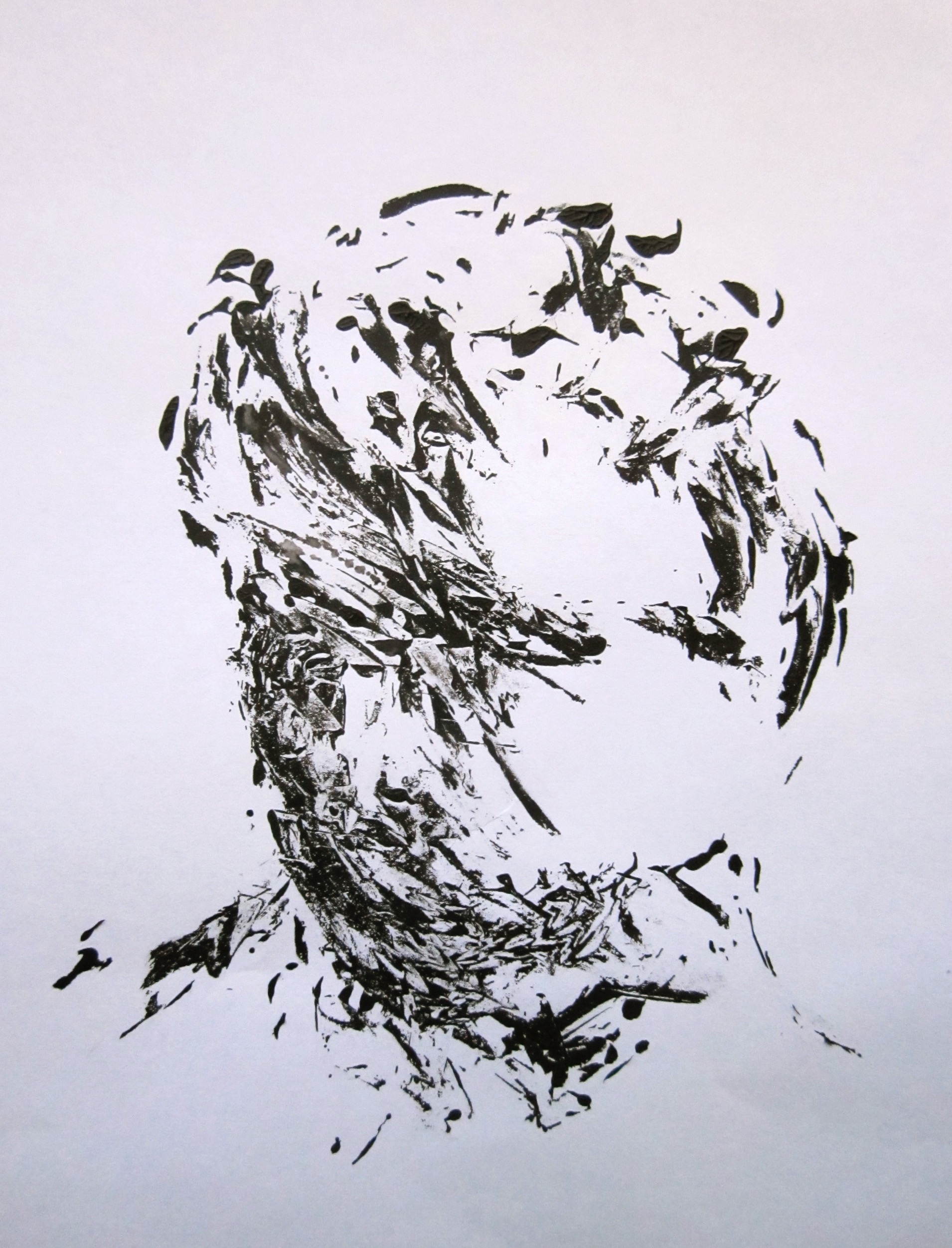 Male face-monotype