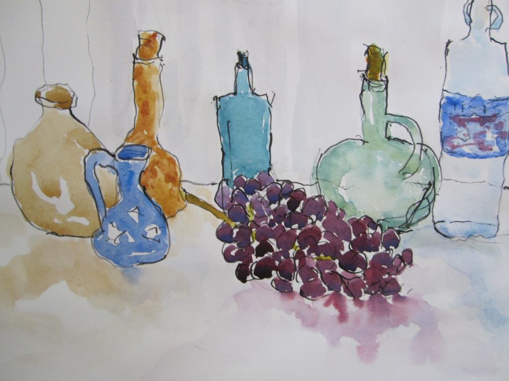 Still-Life-ink-pen-and-washes