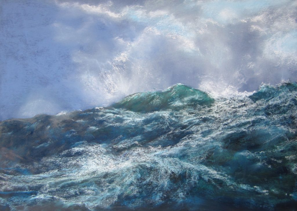 Stormy Sea - Pastels