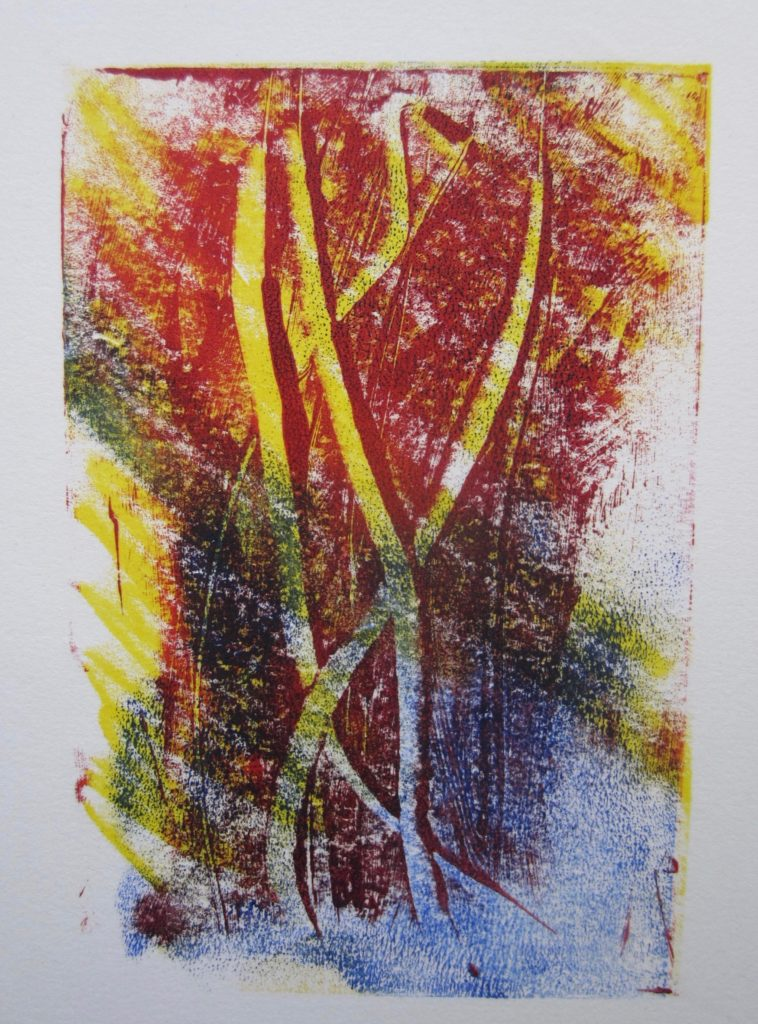 Red-yellow-blue-monotype
